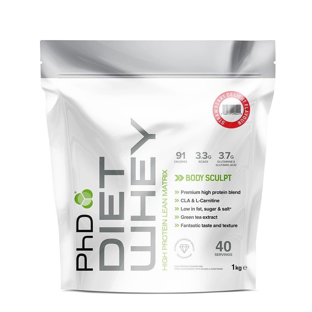 PhD Nutrition | Diet Whey / 1kg - Cherry Bakewell | Vitamins and Minerals