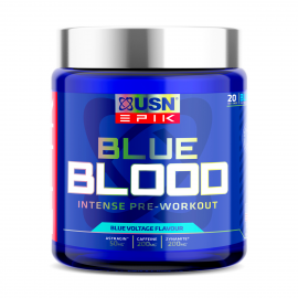 USN EPIK Blue Blood Pre-Workout - 20 Servings / 380g (BBE 11/21)