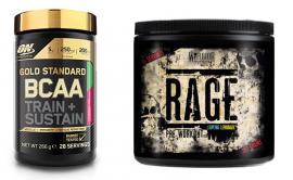 Gold Standard BCAA and Warrior RAGE