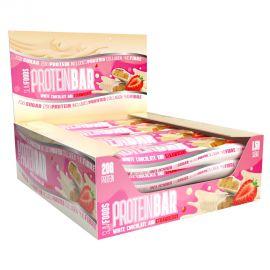 Slim Foods Protein Bar - 12 Bars - White Chocolate & Strawberry