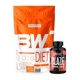 Ultra Define Stack with Performance Diet Whey - 2kg + Warrior Blaze
