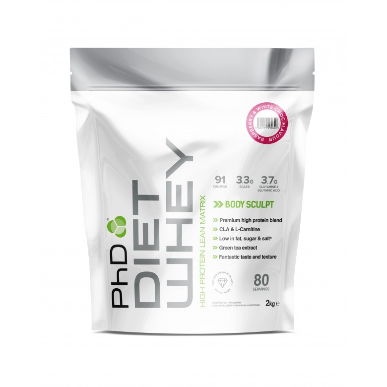 PhD Nutrition | Diet Whey / 2kg - White Chocolate | Vitamins and Minerals