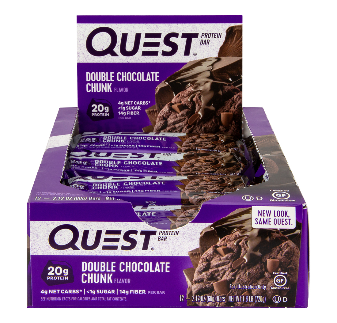 Quest Protein Bars - 12 Bars-Double Chocolate Chunk