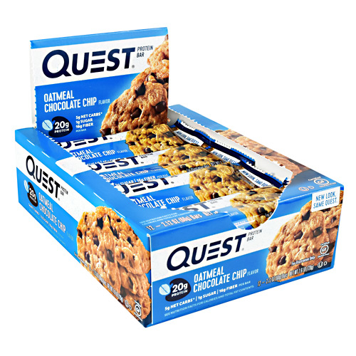 Quest Protein Bars - 12 -Oatmeal Choc Chip