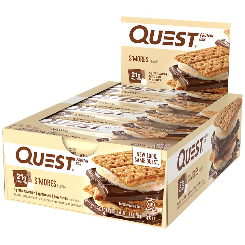 Quest Protein Bars - 12 Bars-Smores