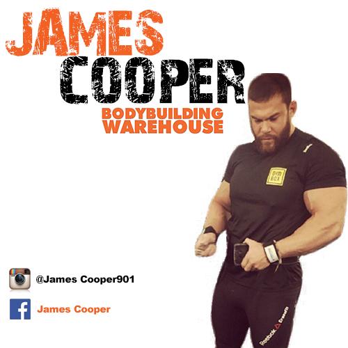 Bodybuilding Warehouse Ambassador James Cooper