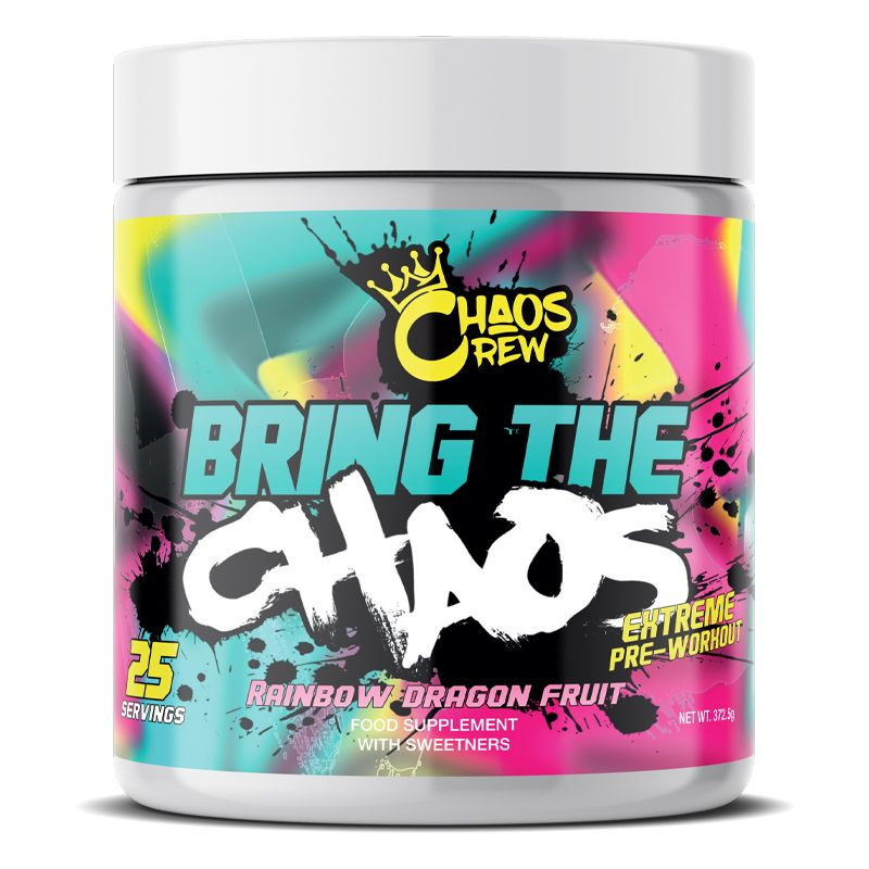 Vitamins & Supplements Bring the - 25 Srvs (Rainbow Dragon Fruit) Pre-Workout Supplements Chaos Crew
