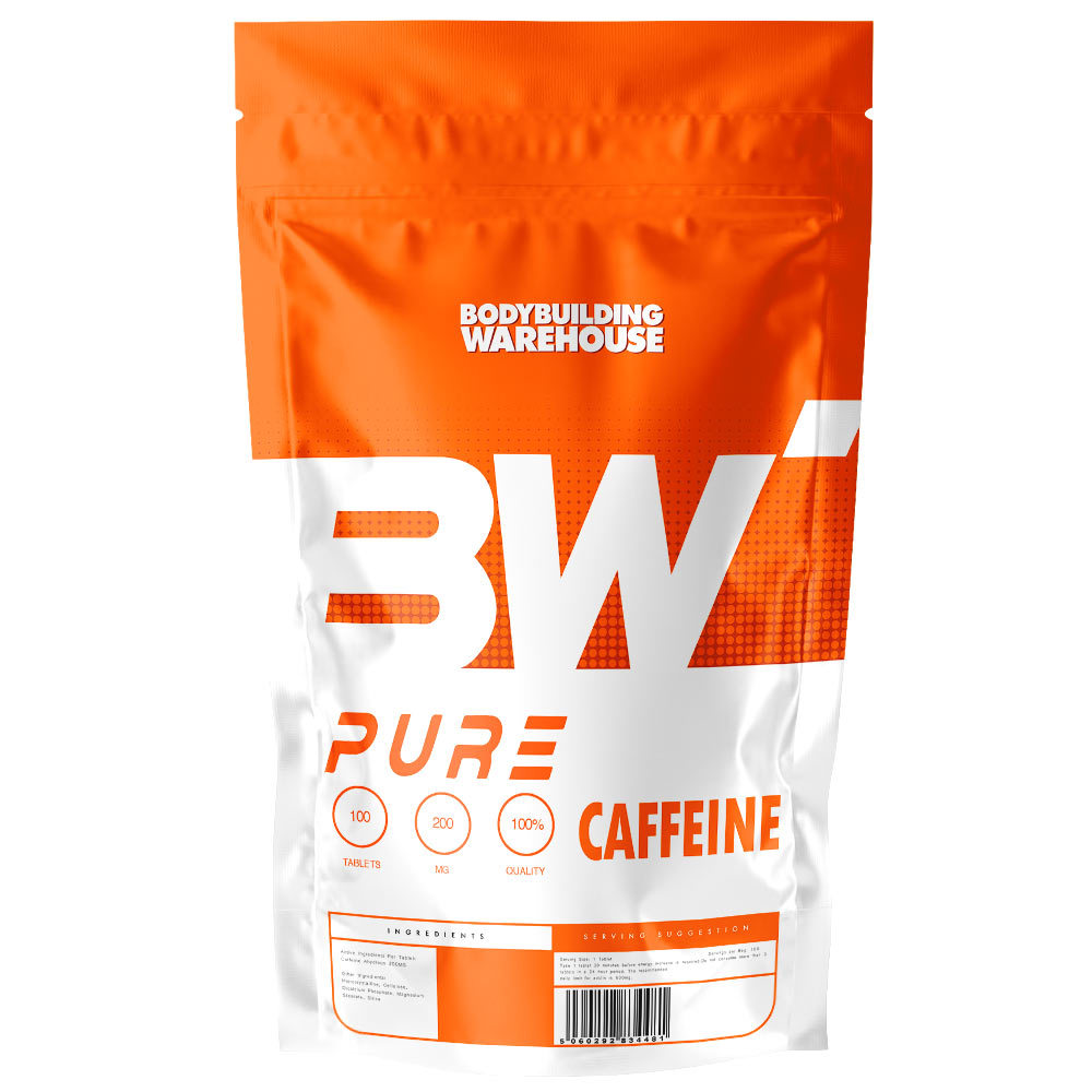 Pure Caffeine Tablets (200mg) - 100 Tabs Bodybuilding Warehouse