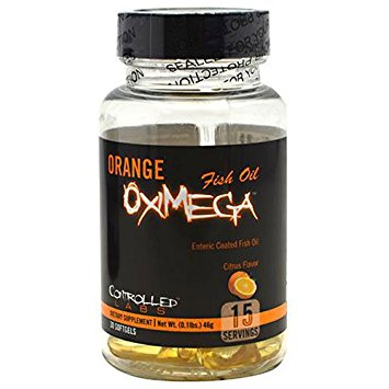 Orange Oximega Fish Oil - 30 Soft Gels (late Dated March 2018) Bodybuilding Warehouse Controlled Labs