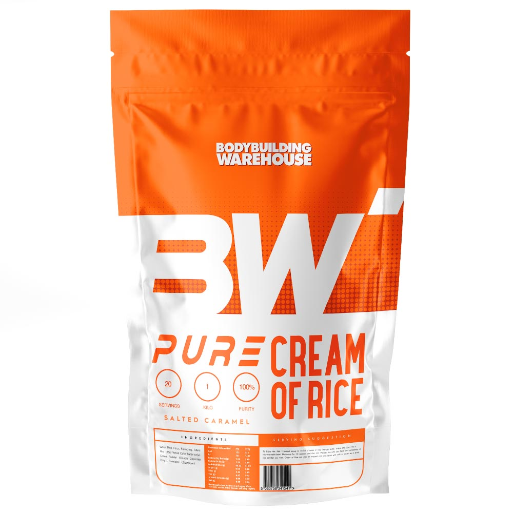 Pure Cream Of Rice - Double Chocolate 1kg Mass Gain Supplement Bodybuilding Warehouse