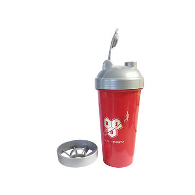 push To Finish First Shaker Bottle 700ml - Red Bodybuilding Warehouse Bsn