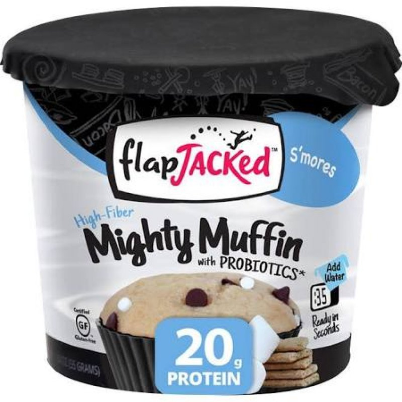 Mighty Muffin 1 X 55g-smores Bodybuilding Warehouse Flapjacked