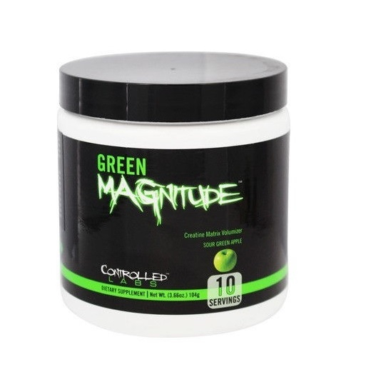 Green Magnitude - 104g (10 Servings)-sour Apple Bodybuilding Warehouse Controlled Labs