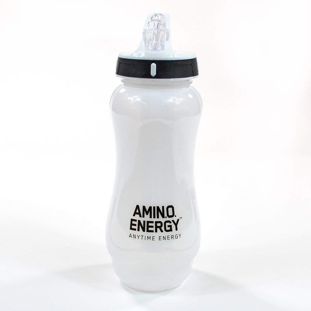 On Amino Ice Cold Water Bottle - White Top Bodybuilding Warehouse Optimum Nutrition