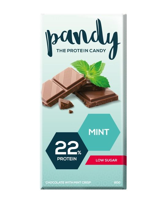 Pandy Protein Chocolate 80g-chocolate Mint Dated Feb 19 Bodybuilding Warehouse Candy