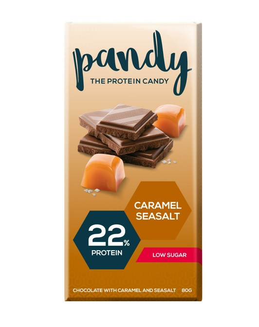 Pandy Protein Chocolate 80g-caramel Seasalt Dated Feb 19 Bodybuilding Warehouse Candy