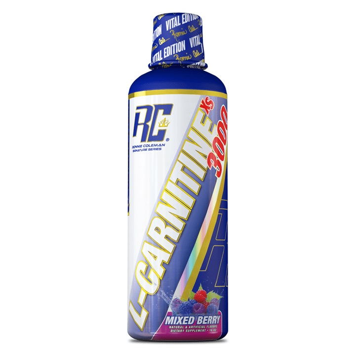 L-carnitine Xs 3000 - 465ml-mixed Berry Bodybuilding Warehouse Ronnie Coleman