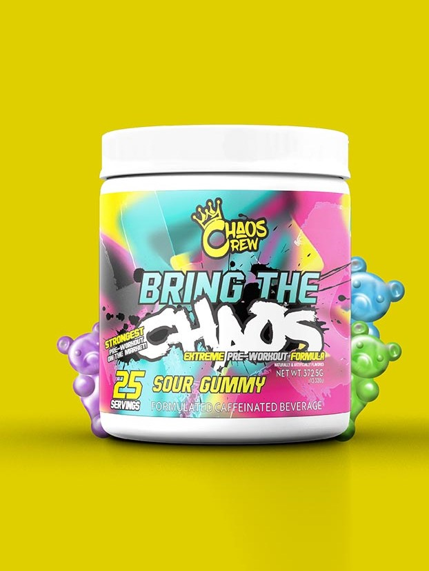 Bring The (25 Servings) - Sour Gummy Pre-workout Supplements Chaos Crew