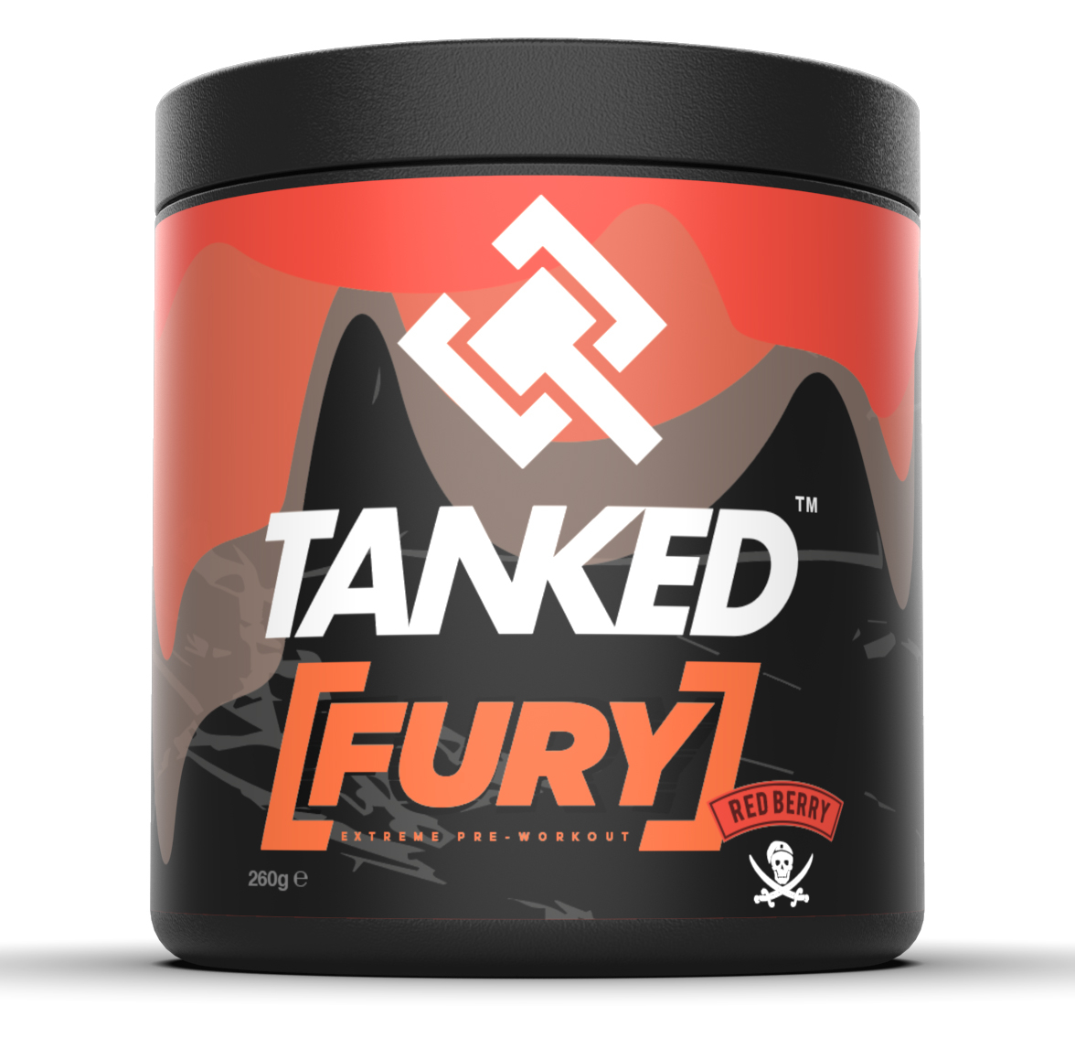FURY - Red Berry 40 Servings Pre-Workout Supplements TANKED