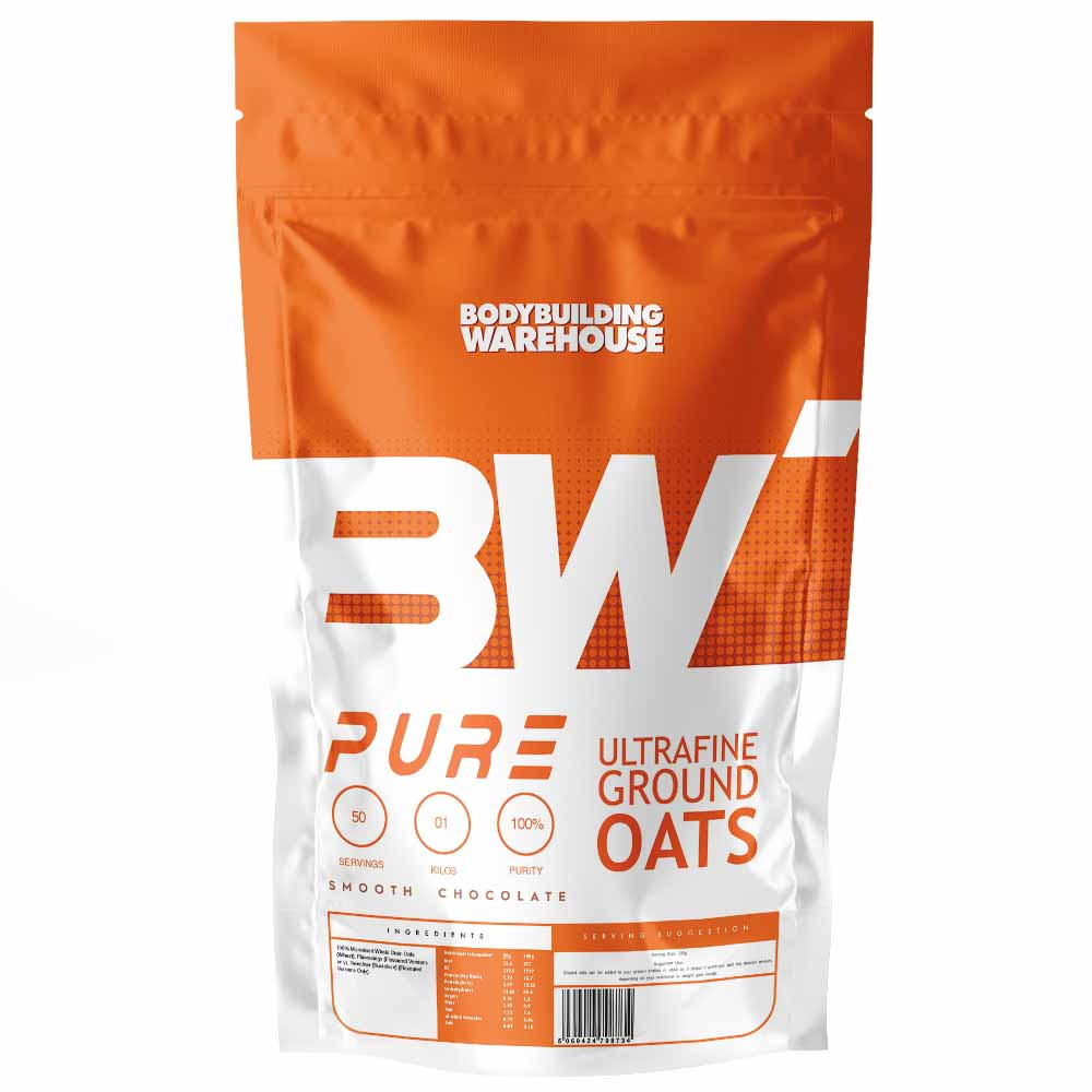 Pure Ultrafine Ground Oats Instant -unflavoured-1kg Health Foods Bodybuilding Warehouse