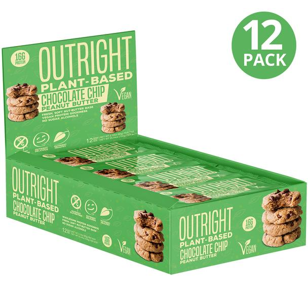 Mts Outright Vegan Bar - 12 Bars-chocolate Chip Peanut Low Price Bars Nutrition