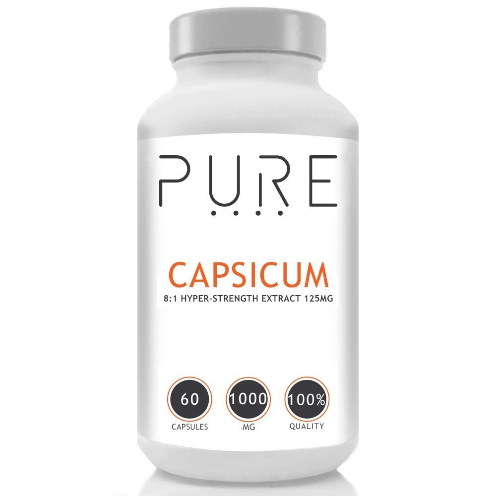 Pure Capsicum - 1000mg - 60 caps