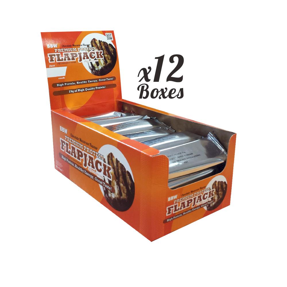 Premium Protein Flapjacks x 12 Boxes (1 Case)