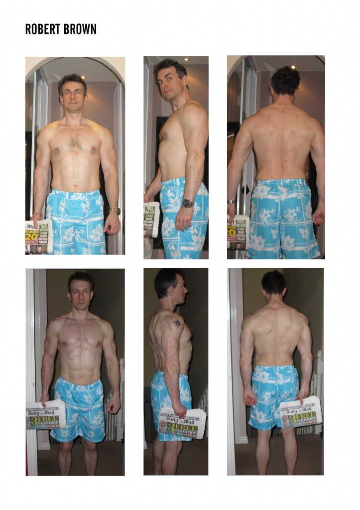 robert brown before and after